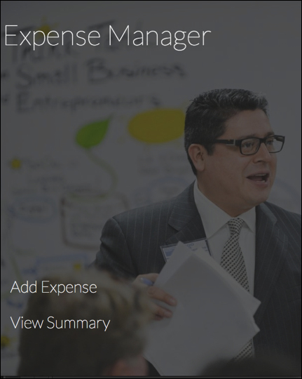 Building the Expense Manager App