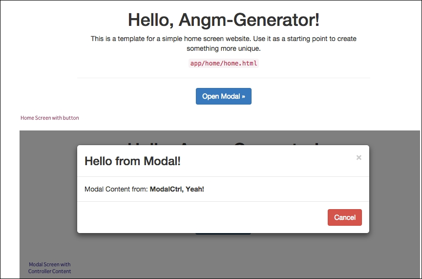 angularjs external template - dealing with modal directives in angularjs