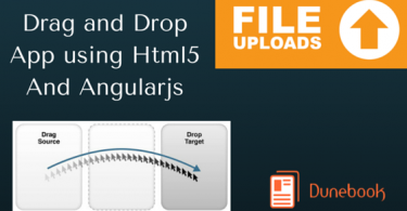 drag and drop using html and angularjs