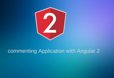 commenting Application with Angular 2
