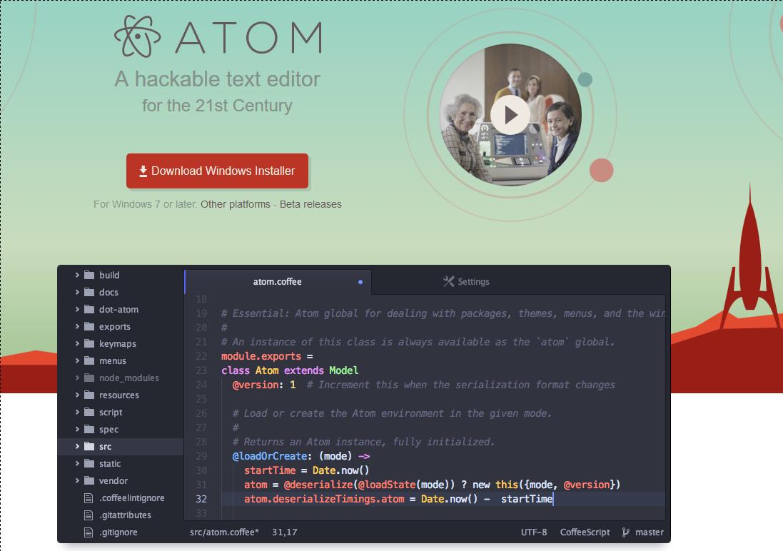 atom editor php