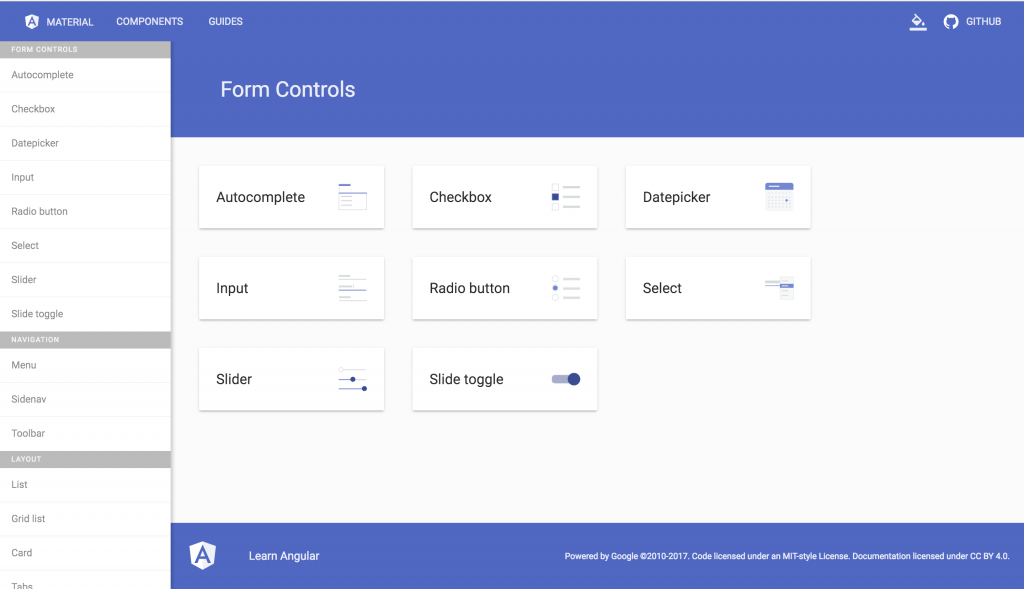 angular material form controls