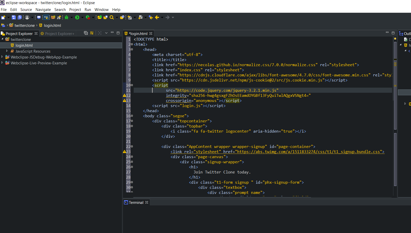 webclipse html ide