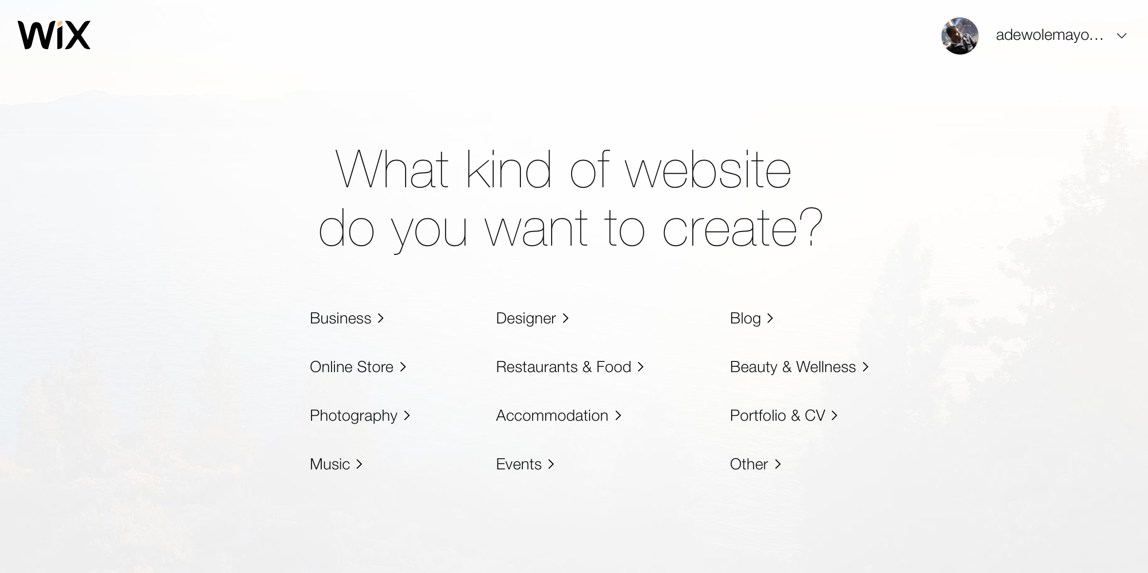 Creating a Wix site