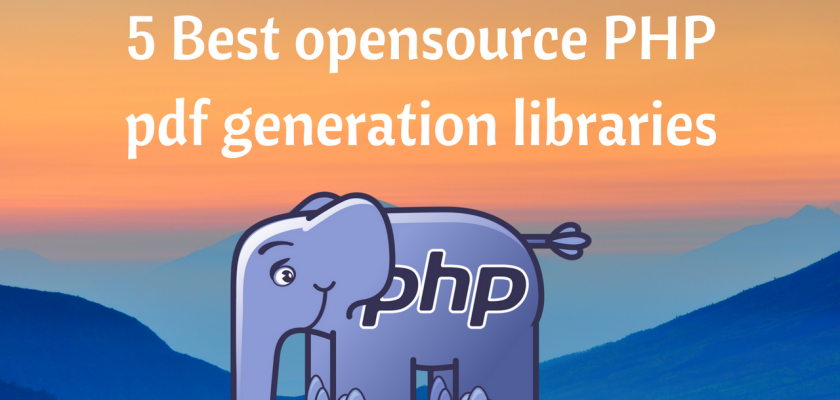 5 Best opensource PHP pdf generation libraries
