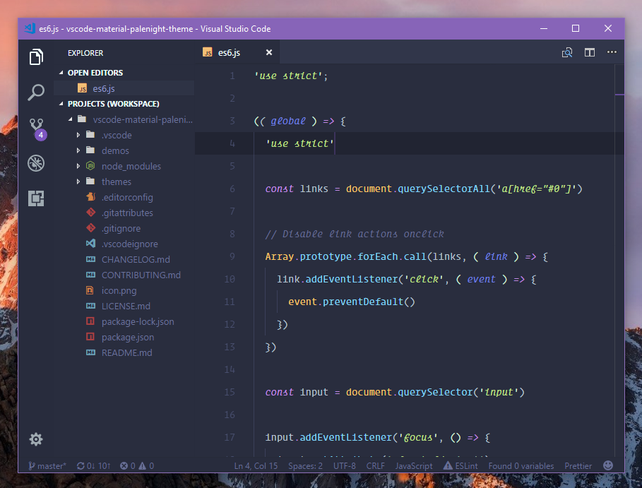 Material Design Theme For Visual Studio