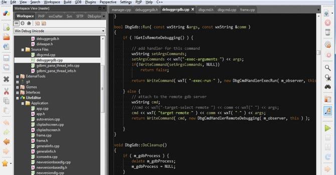 codelite linux editor