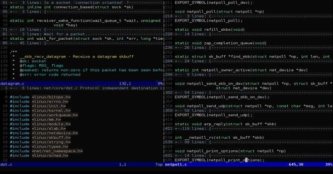 vim linux editor