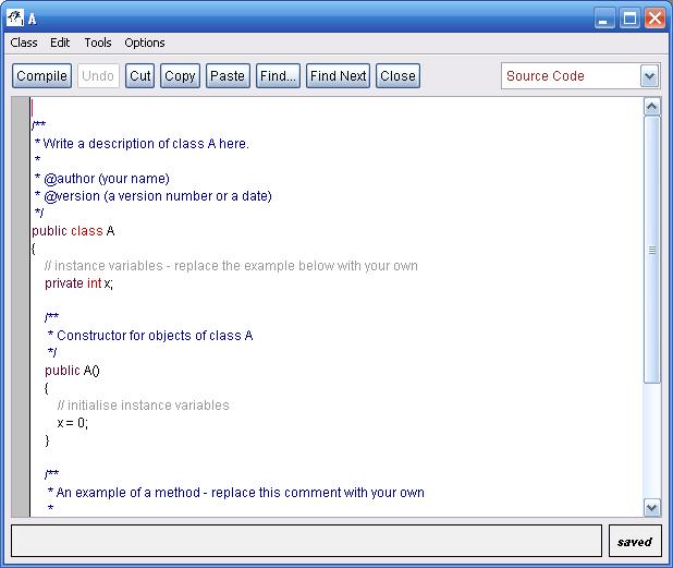 bluej Java compiler