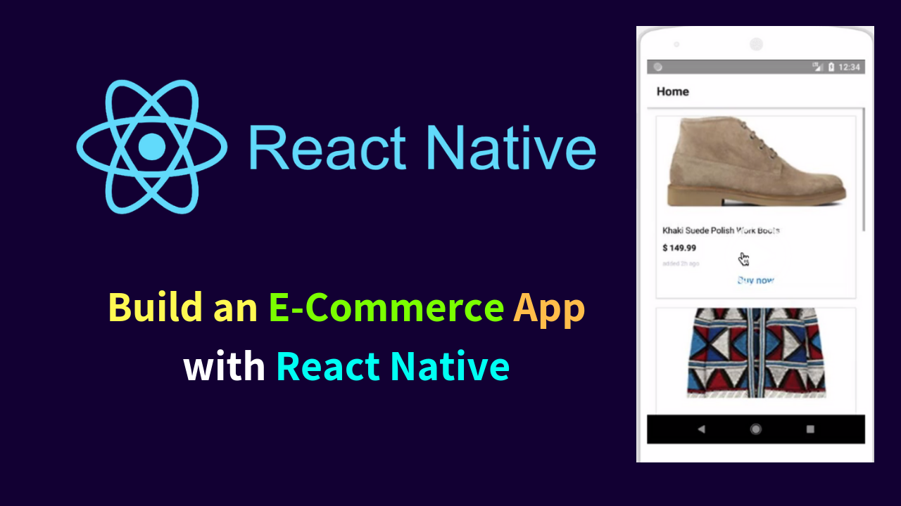 Build an E-Commerce App with React Native ( Tutorial)