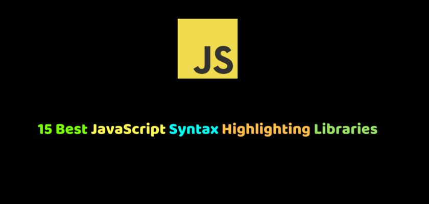 JavaScript Syntax Highlighting Libraries