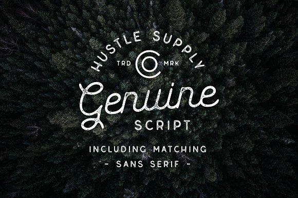 Genuine Script - Textured Type Duo Font