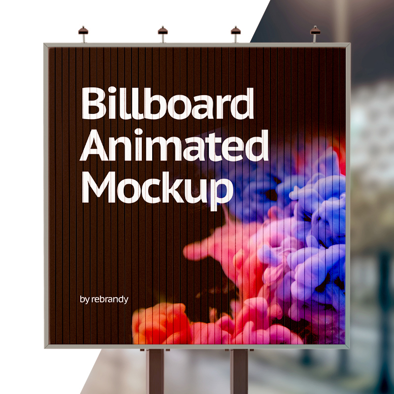Billboard Animated Product Mockup