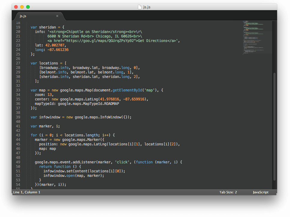 New moon sublime text theme