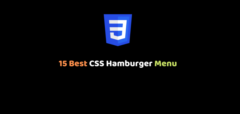 CSS Hamburger Menu