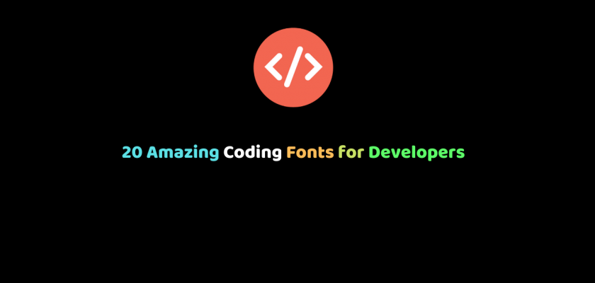 20 Amazing Coding Fonts for Developers