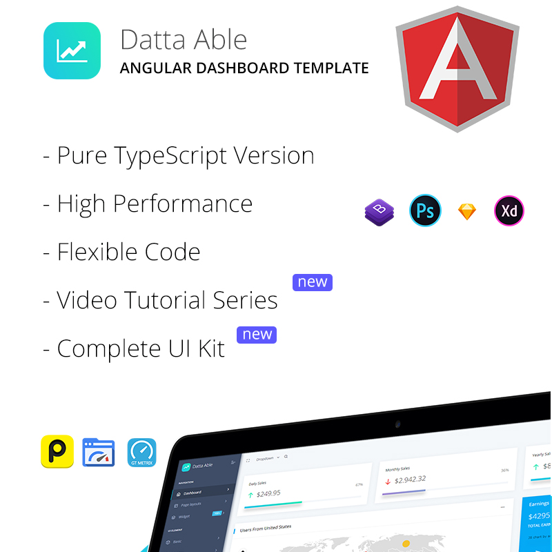 Datta Able Angular 7 Admin Template