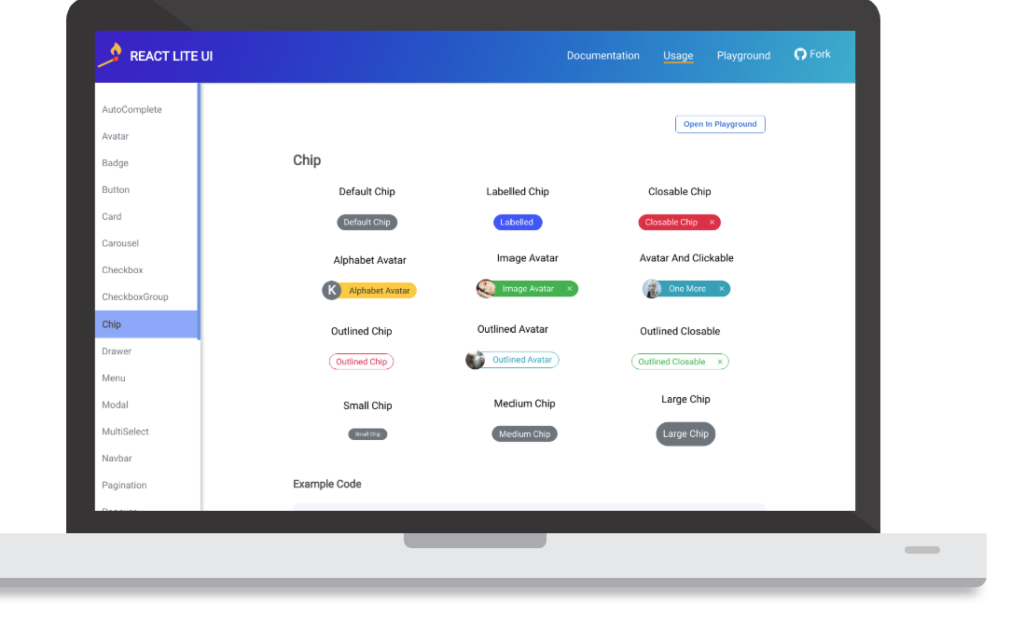 React UI components
