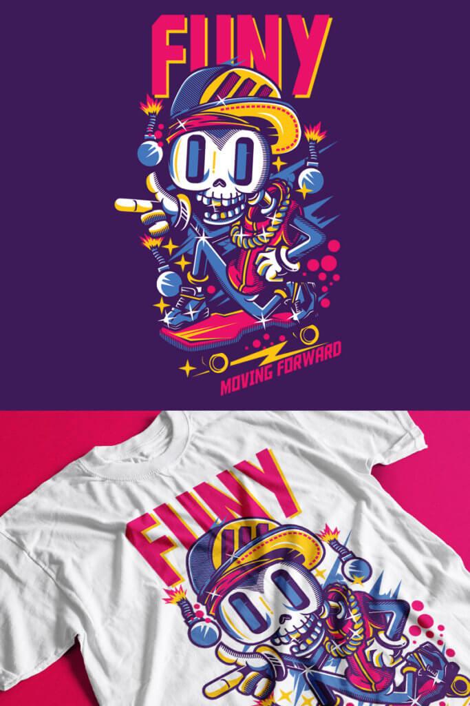 Funy T-shirt Mockup
