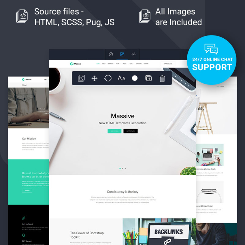 Multipage Ready-To-Use Website Template