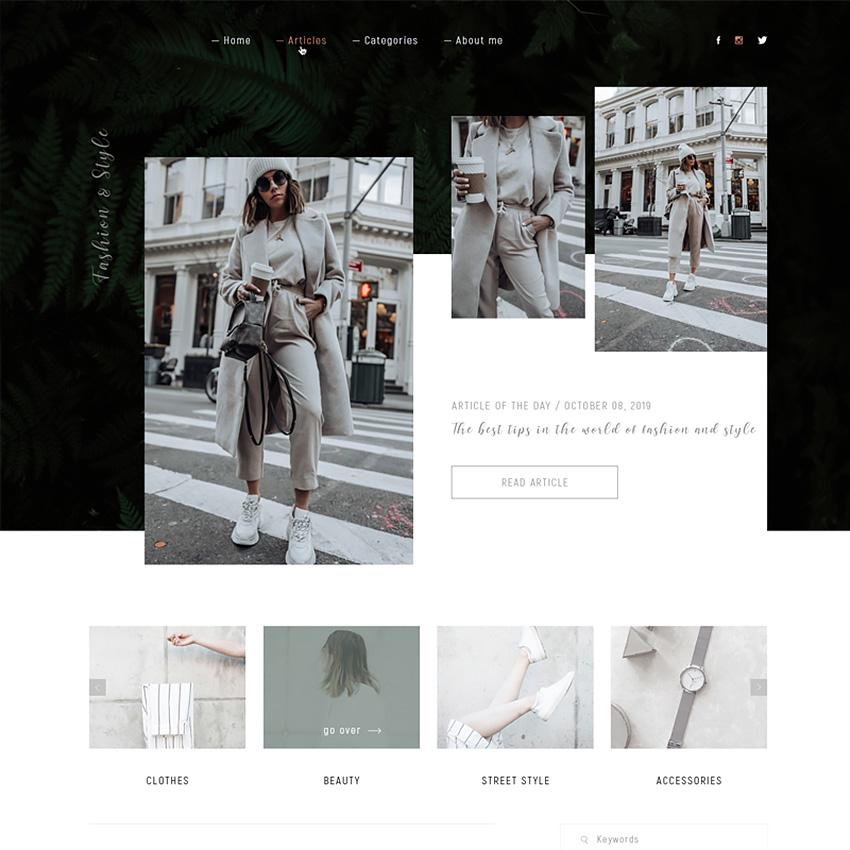 Fashion & Style PSD Template