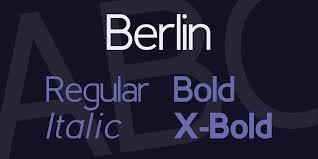 Retro Fonts berlin