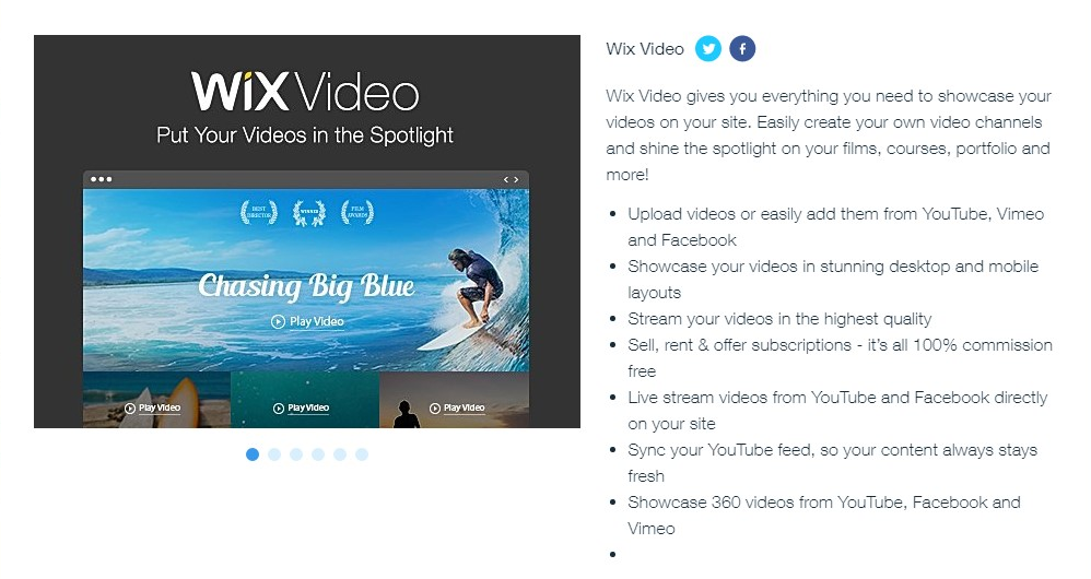 Wix Video Hosting