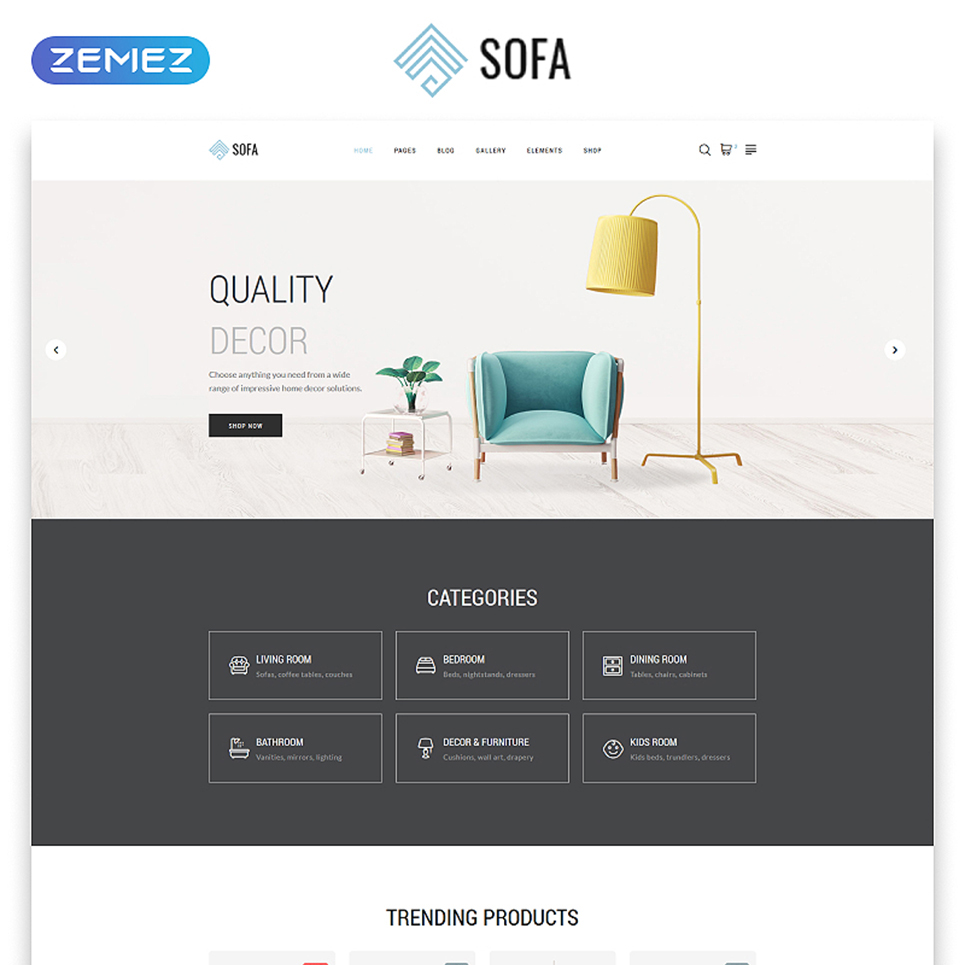 Interior Site Template