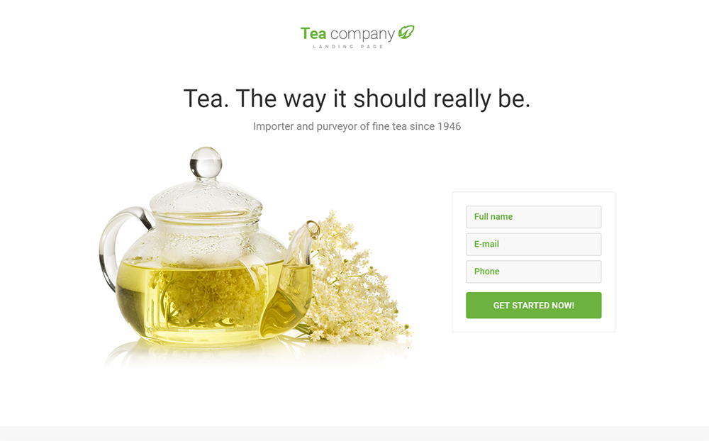 Tea Company HTML Template
