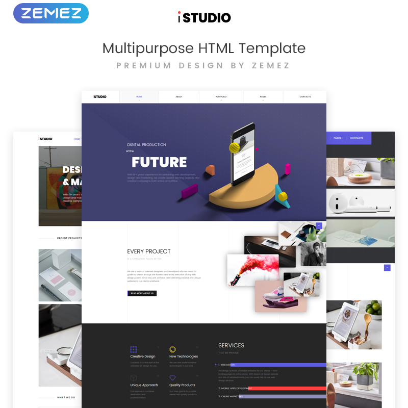 Digital Production Multipurpose HTML template