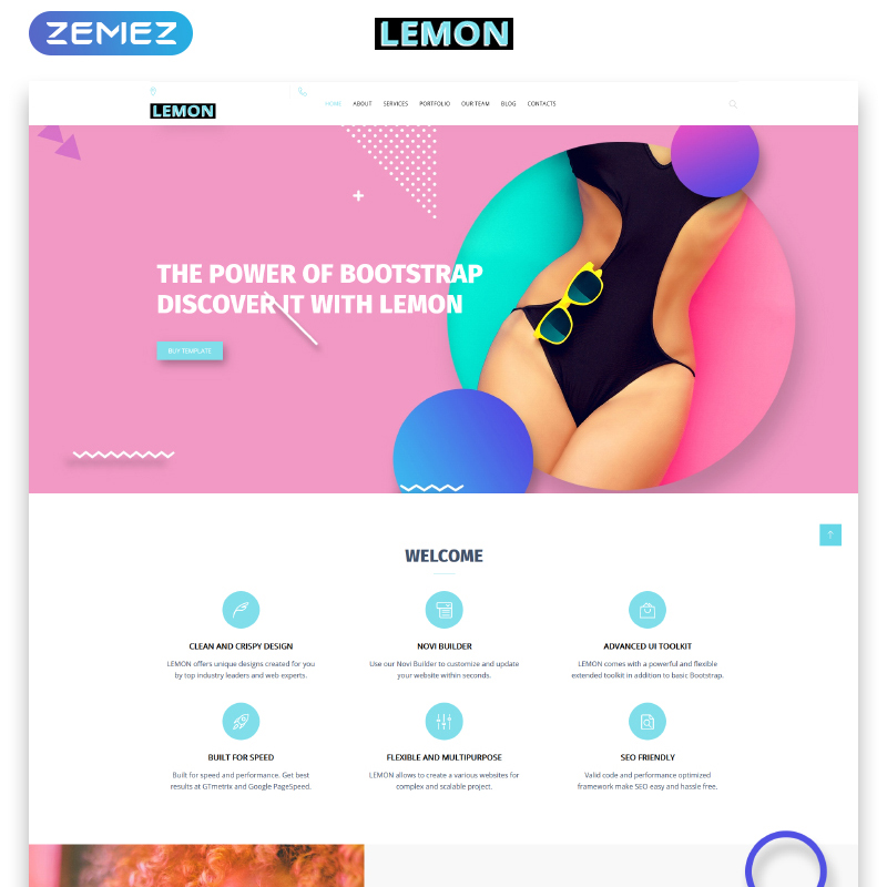Design Company Responsive HTML template