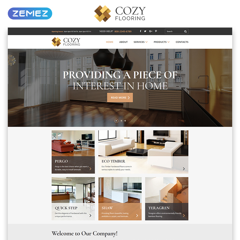 COZY Responsive HTML Template