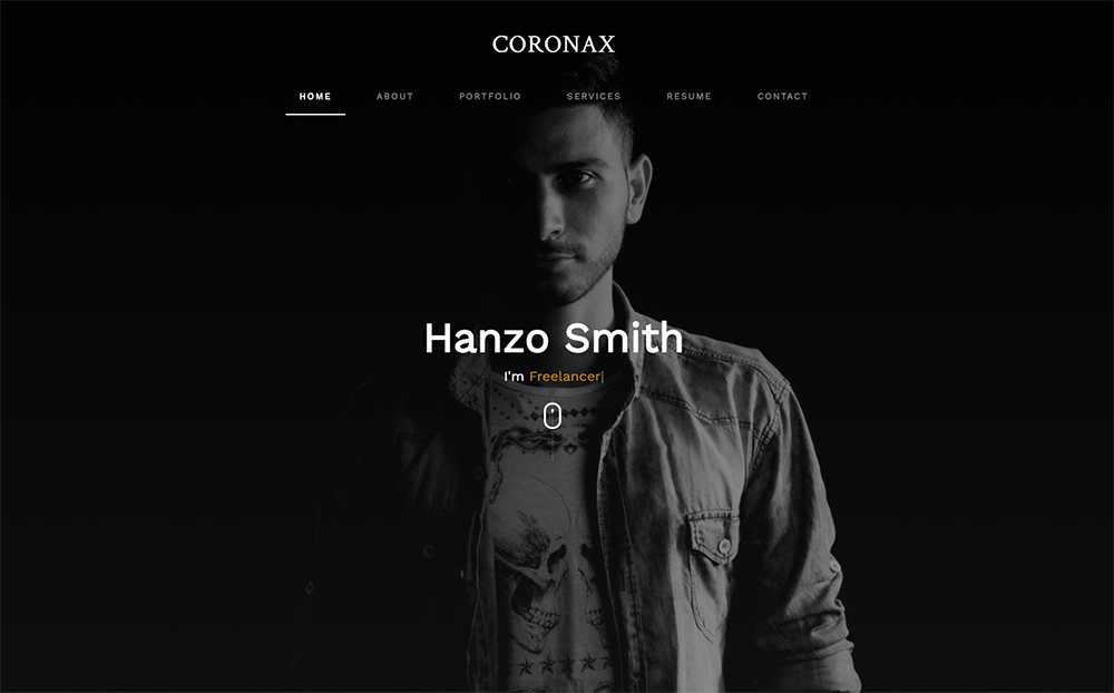 Coronax Landing Page Template