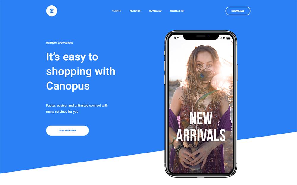 Canopus - Multipurpose HTML Landing Page Template