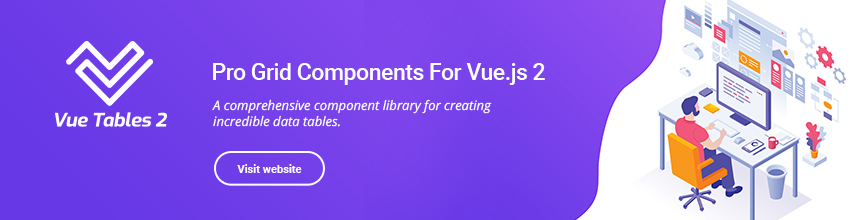 Vue Datatable components
