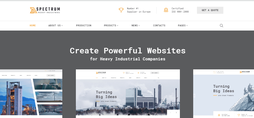 Construction Website Templates