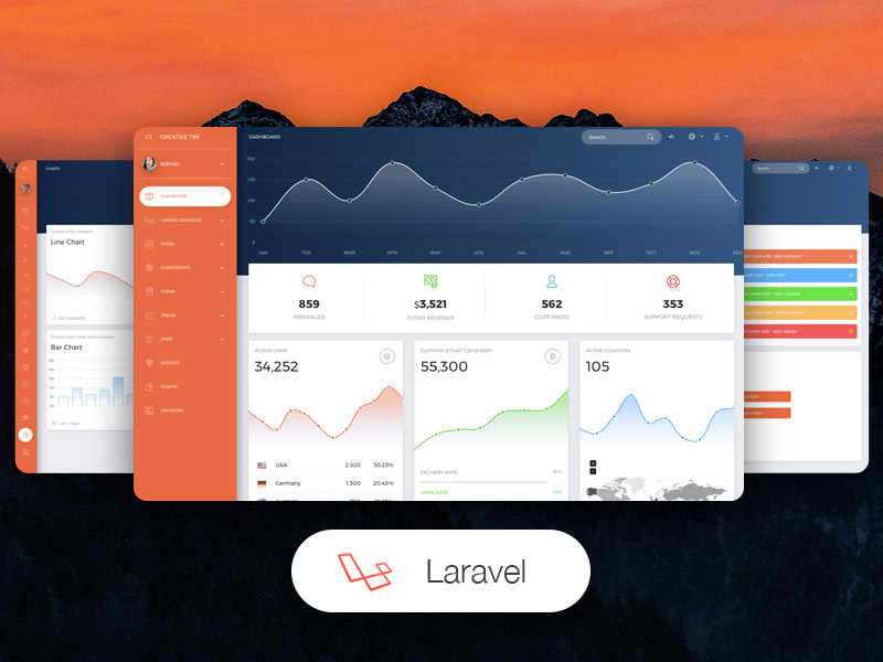 Best Laravel themes and templates