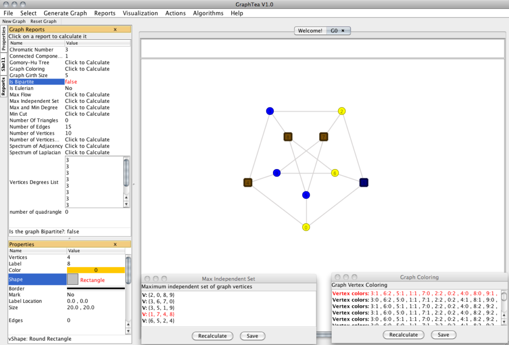 GraphTea Graph Theory Open Source Projects
